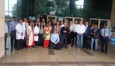 German hospital delegation members at Safdarjung Hospital, Delhi