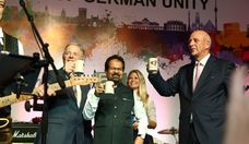 (L-R): Dr. Martin Schairer, Hon. Deputy Mayor of Stuttgart; Vishwanath Mahadeshwar, Hon. Mayor of Mumbai; and Dr. Jürgen Morhard, German Consul in Mumbai; declare the event open
